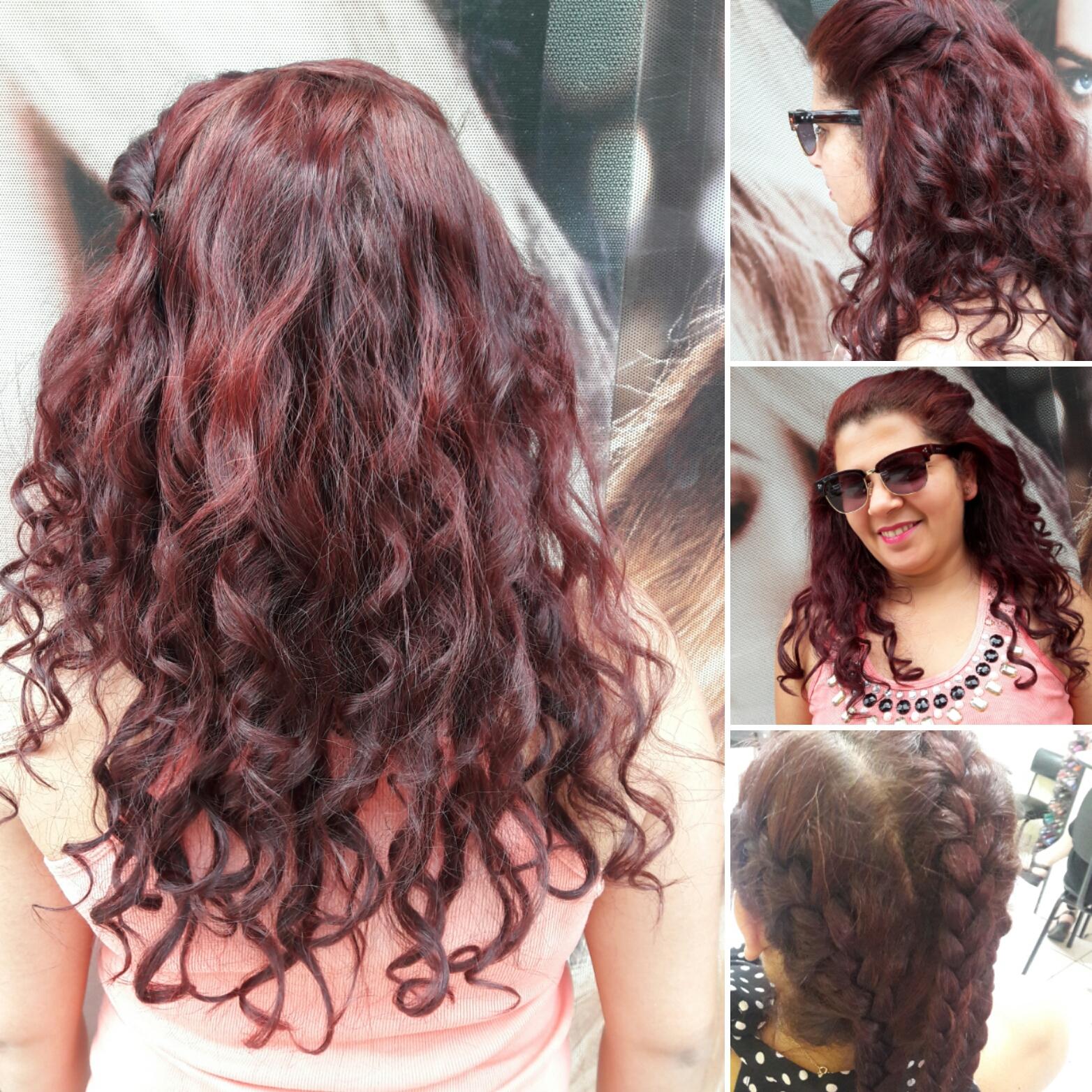 Efeito trança embutida e pontas babyliss cabelo cabeleireiro(a)