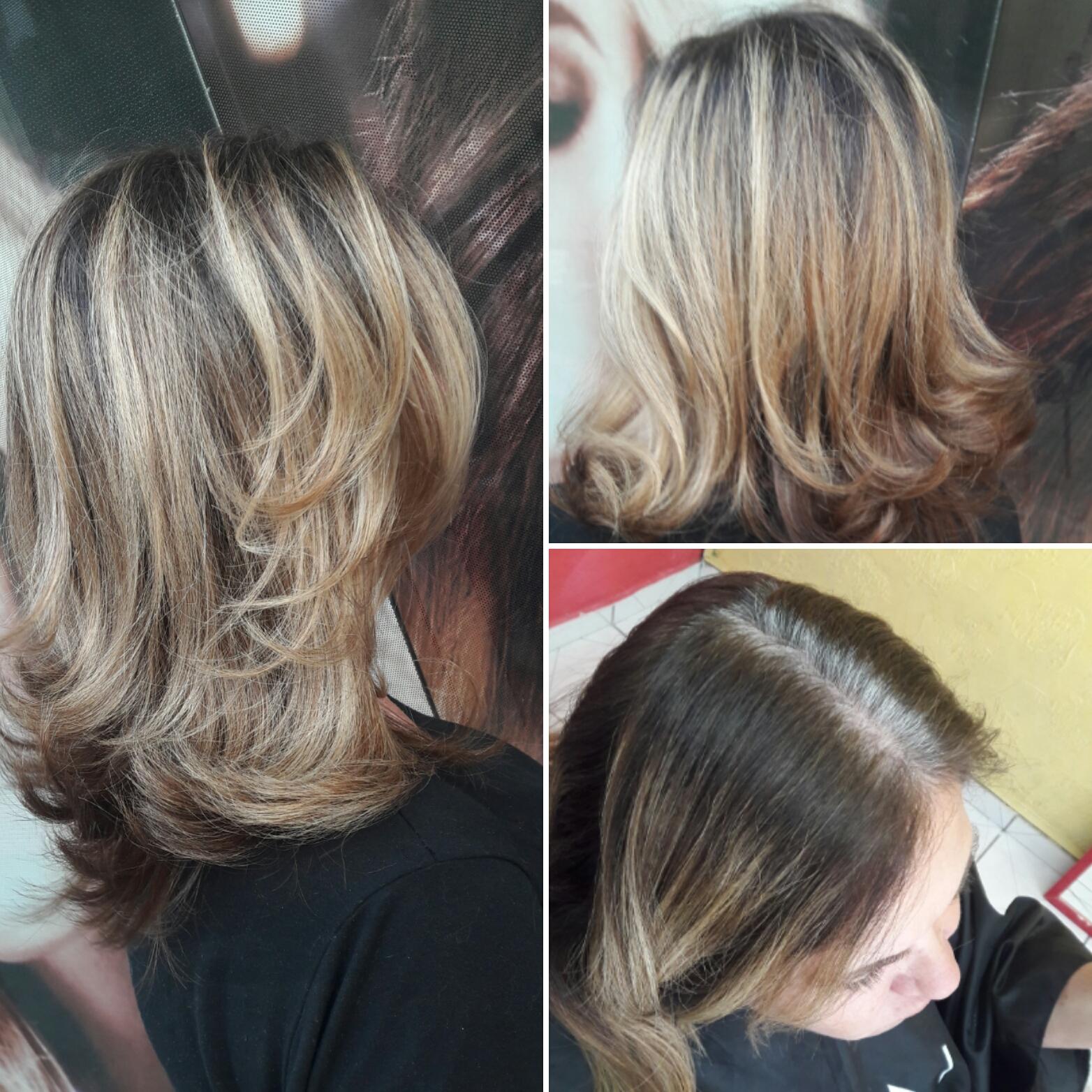 Retoque de raiz levemente esfumado. #hairstylist #haircut #hairdresser # beauty #beleza #salaodebeleza  cabelo cabeleireiro(a)