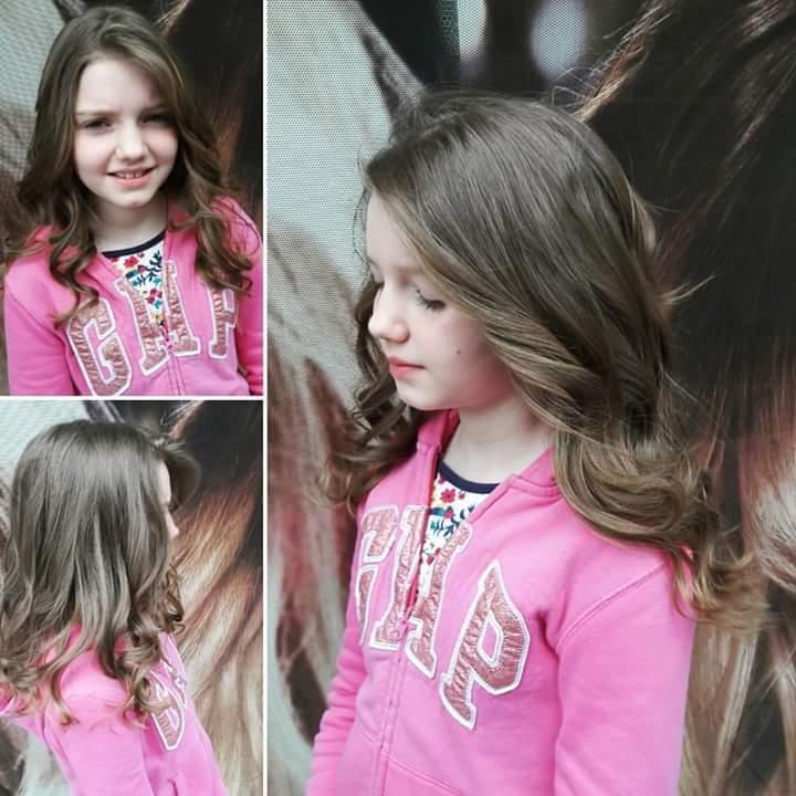Corte infantil e escova modelada. #hairstylist #haircut #hairdresser #beauty #beleza #blond #salaodebeleza @blessed.patty  cabelo cabeleireiro(a)