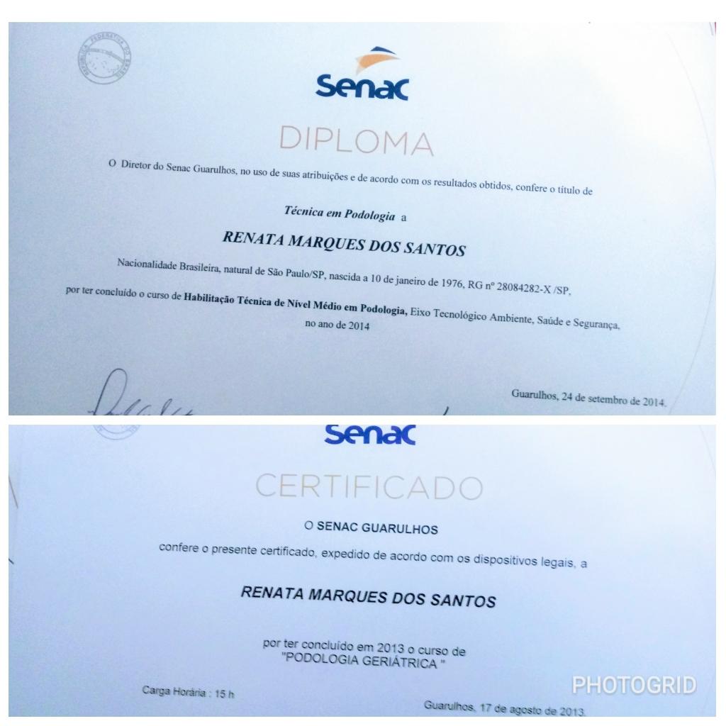 Meu Diploma e Certificado outros podólogo(a)