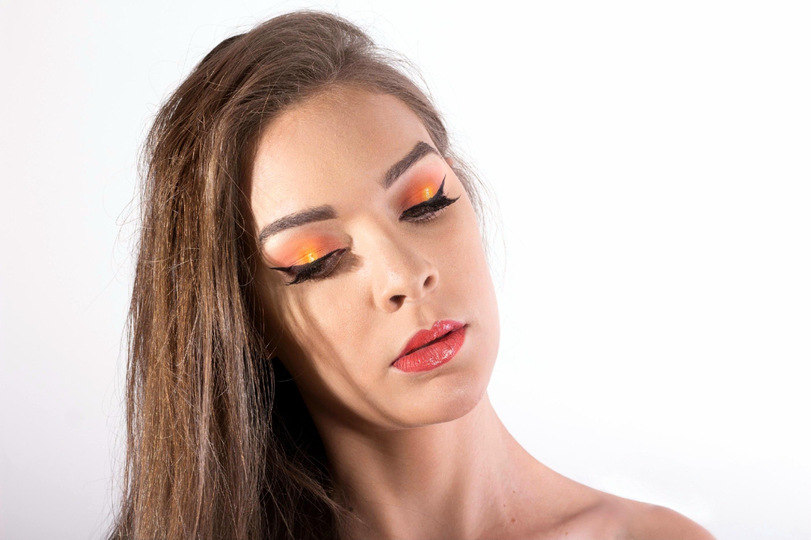 Pálpebra Luz  Inspiração Pôr do Sol maquiagem