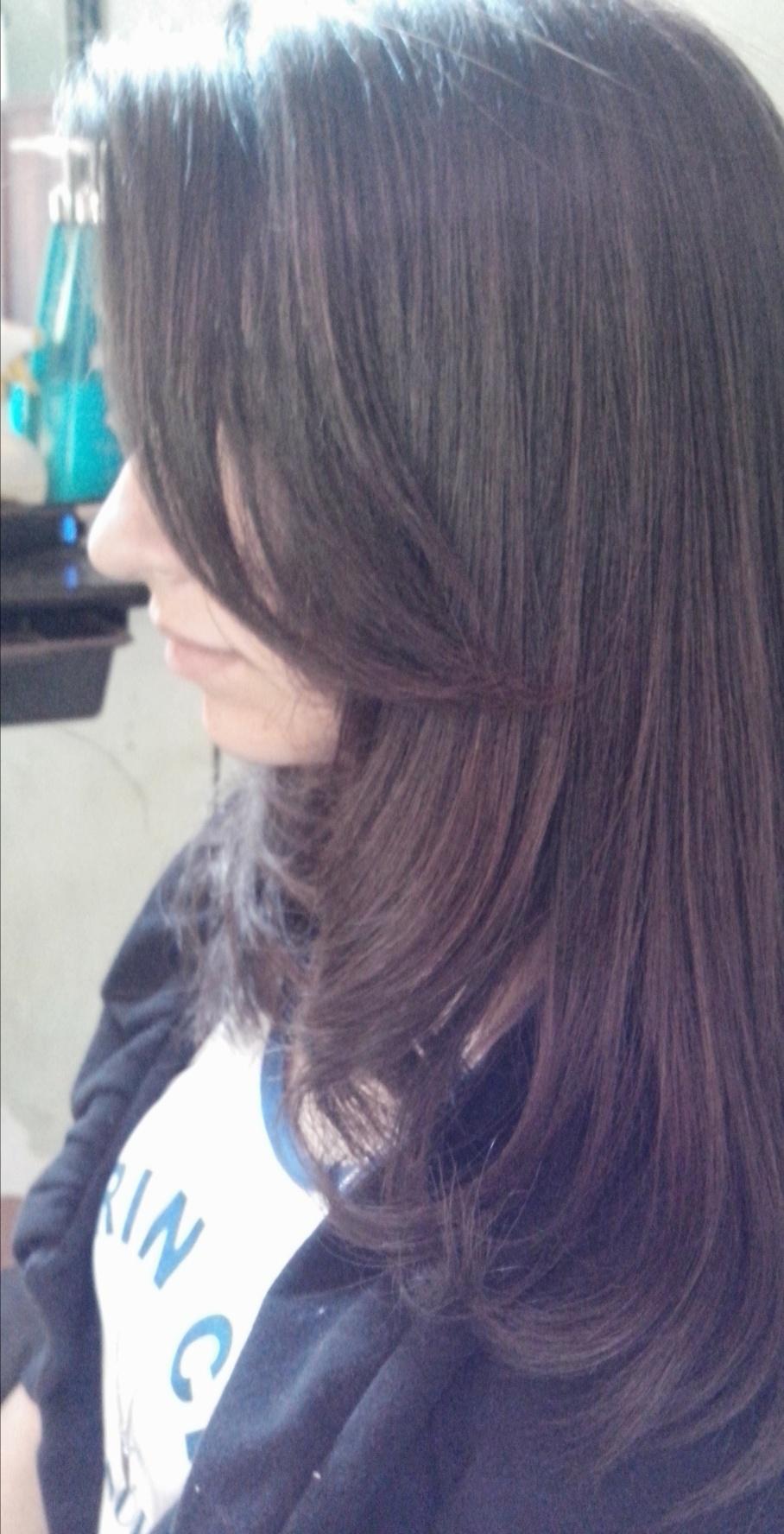 Escova modelando para realçar o corte ..  cabelo cabeleireiro(a)