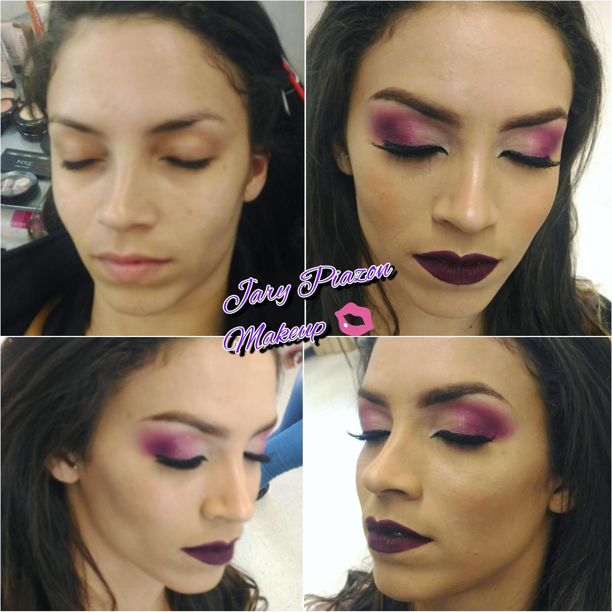 Esfumado roxo maquiagem maquiador(a)