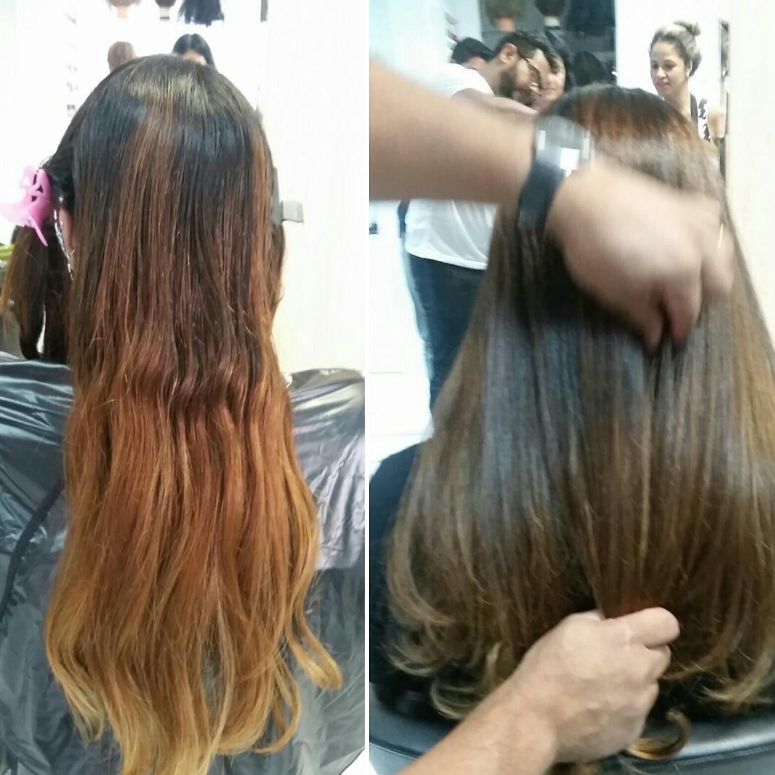 Luzes inversas e neutralização do tom cobre indesejado cabelo auxiliar cabeleireiro(a) estudante (cabeleireiro) cabeleireiro(a)