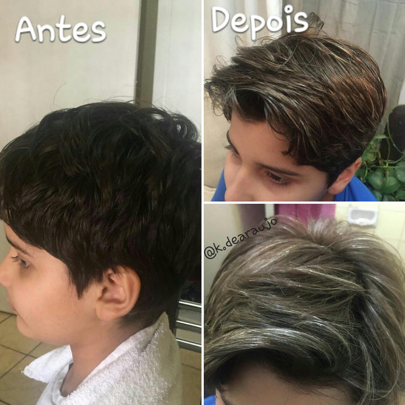 Luzes em cliente de 8 anos. cabelo auxiliar cabeleireiro(a) estudante (cabeleireiro) cabeleireiro(a)