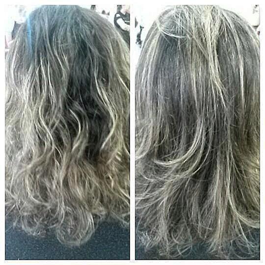 Retoque de luzes, fundo de clareamento 9, tonalizado com 9,03. E escova modelada. cabelo auxiliar cabeleireiro(a)