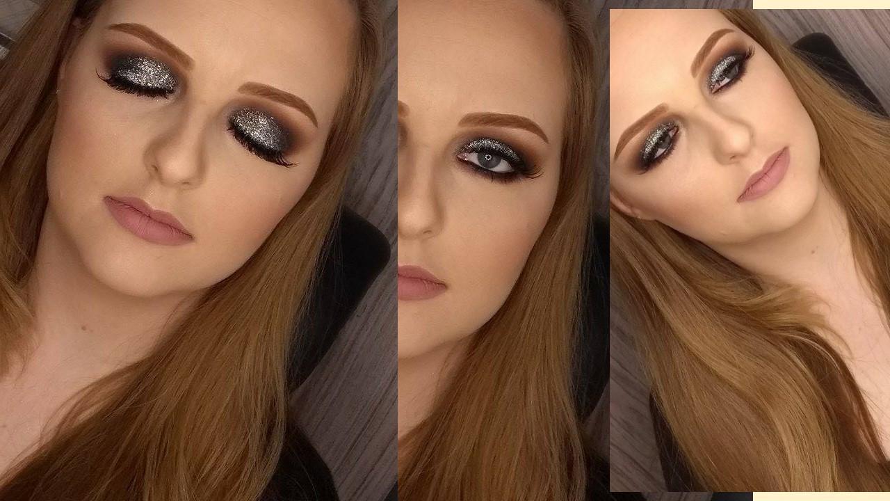 Smokey Eyes com glitter | Técnica de olho esfumado com aplicação de glitter maquiagem maquiador(a)