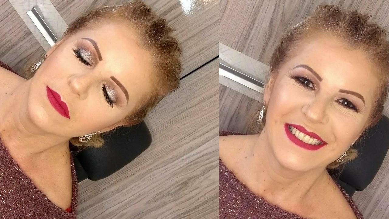 Proposta de maquiagem para pele madura maquiagem maquiador(a)