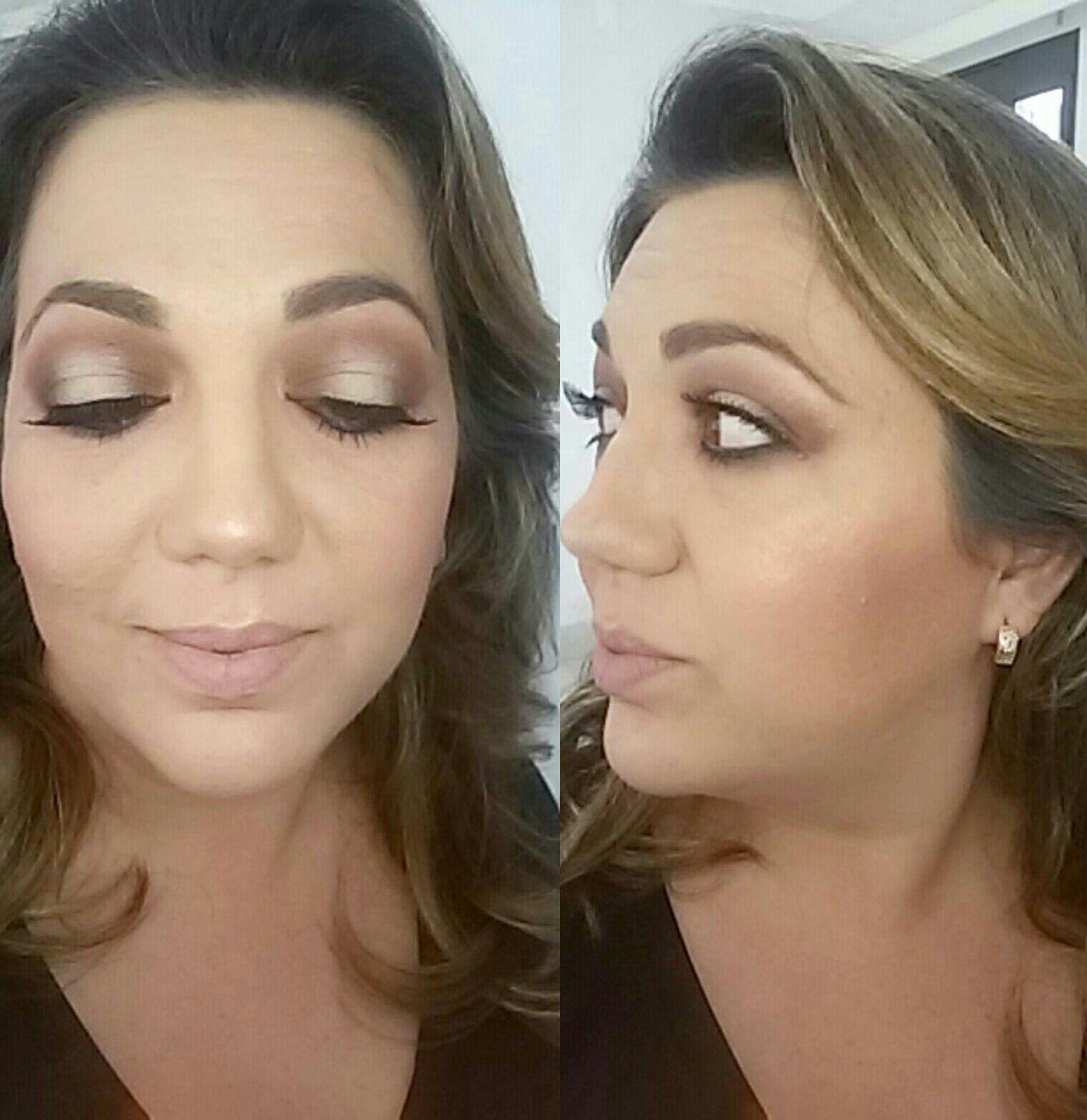 Maquiagem social com pálpebra luz maquiagem maquiador(a)