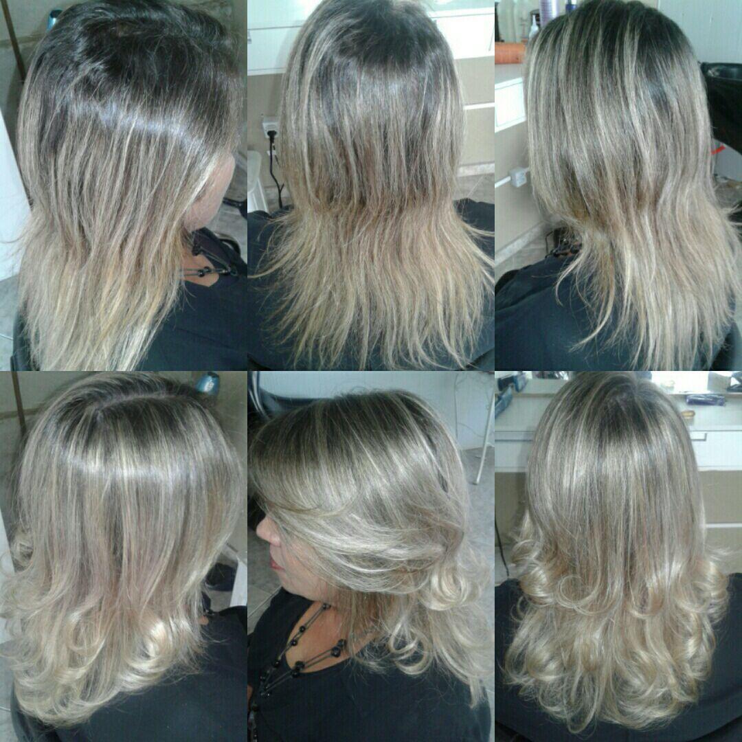 Retoque de mechas e corte cabelo cabeleireiro(a)