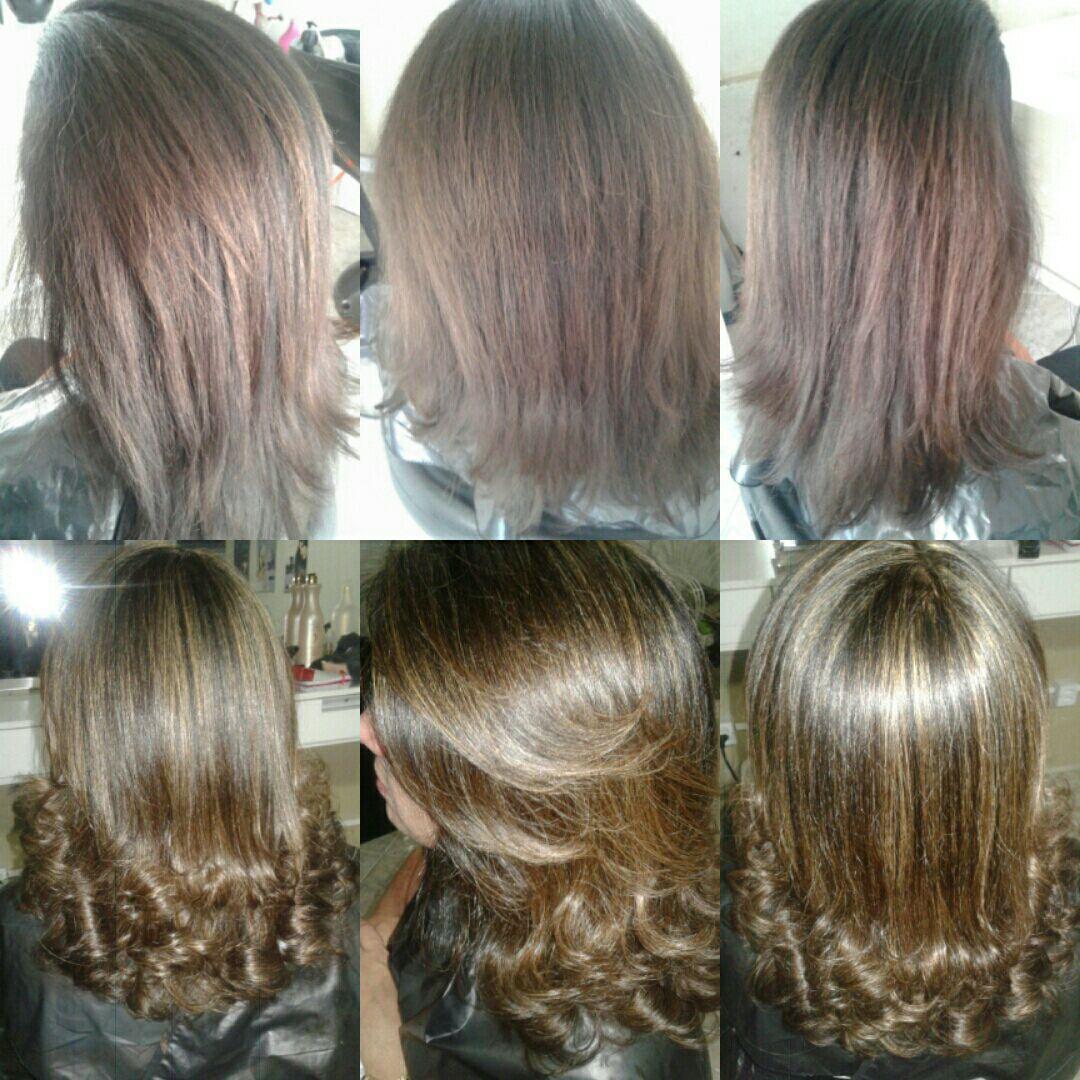 Mechas pra dar uma iluminada cabelo cabeleireiro(a)