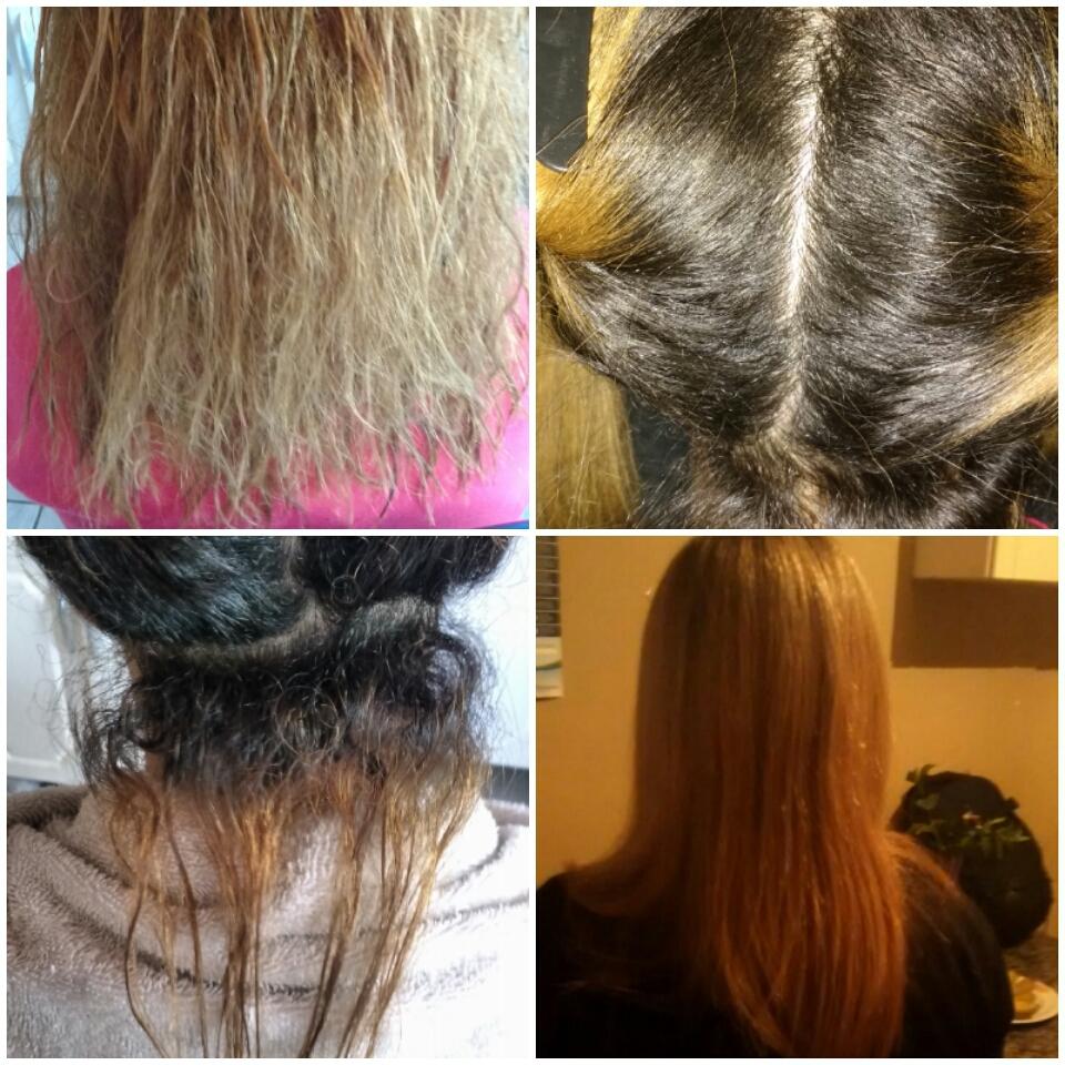 Escova progressiva. cabelo estudante (cabeleireiro)