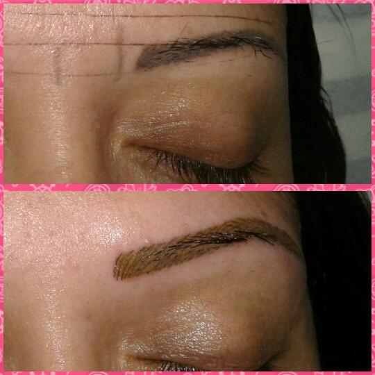 Fios e shadow maquiagem micropigmentador(a) designer de sobrancelhas esteticista depilador(a)