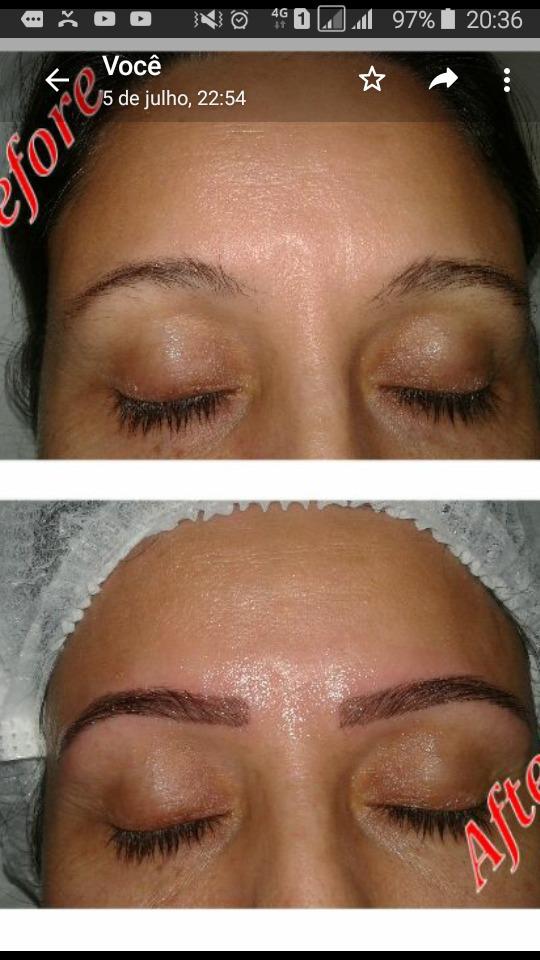 Correção de falhas, técnica Hiper Realista estética micropigmentador(a) designer de sobrancelhas esteticista depilador(a)