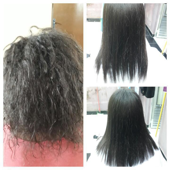 Progressiva e corte. cabelo auxiliar cabeleireiro(a)