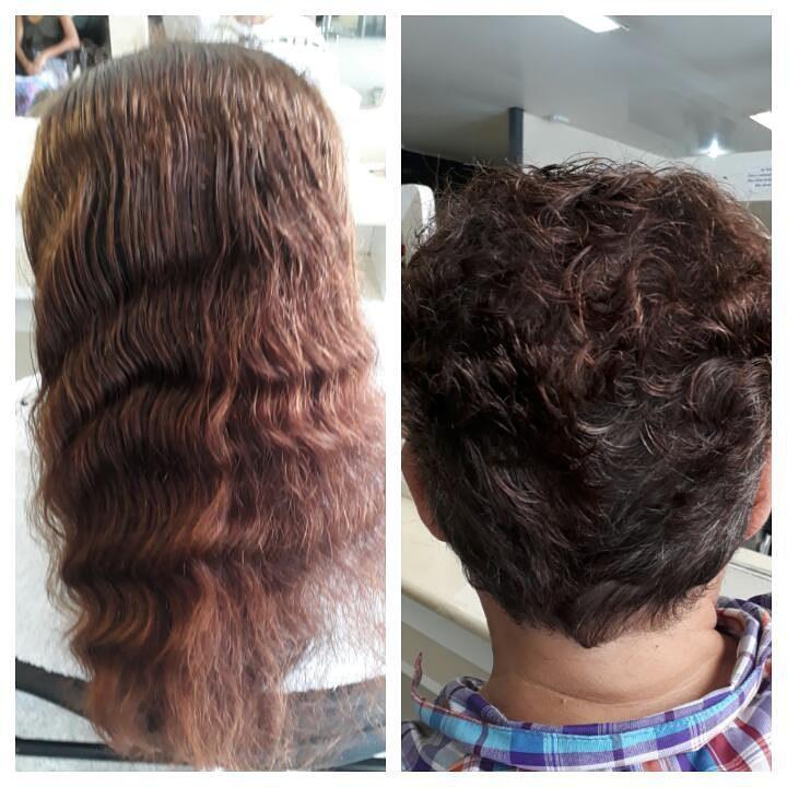 Corte francesinha. cabelo auxiliar cabeleireiro(a)