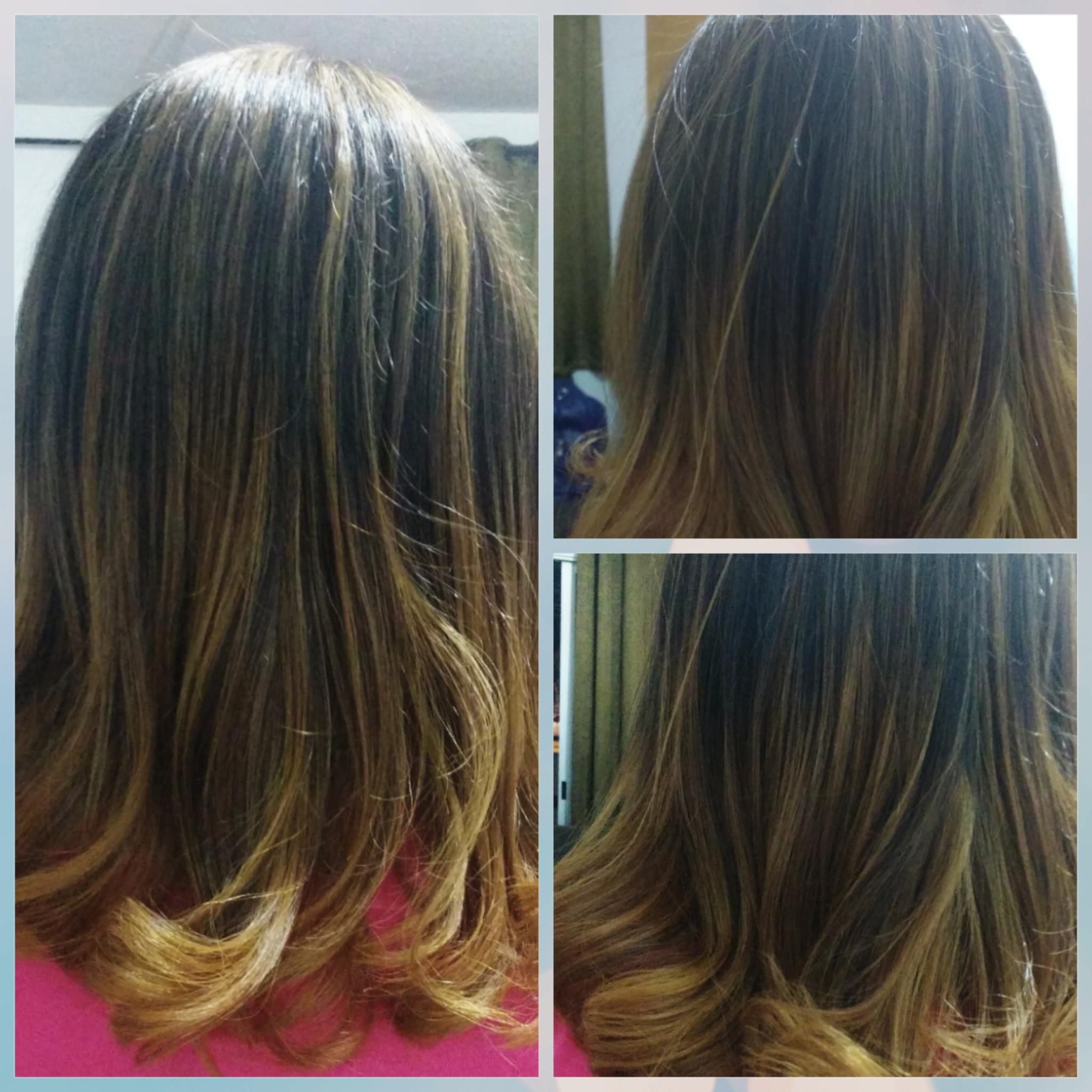 Ombre Hair mais escova modelada .....   cabeleireiro(a) designer de sobrancelhas