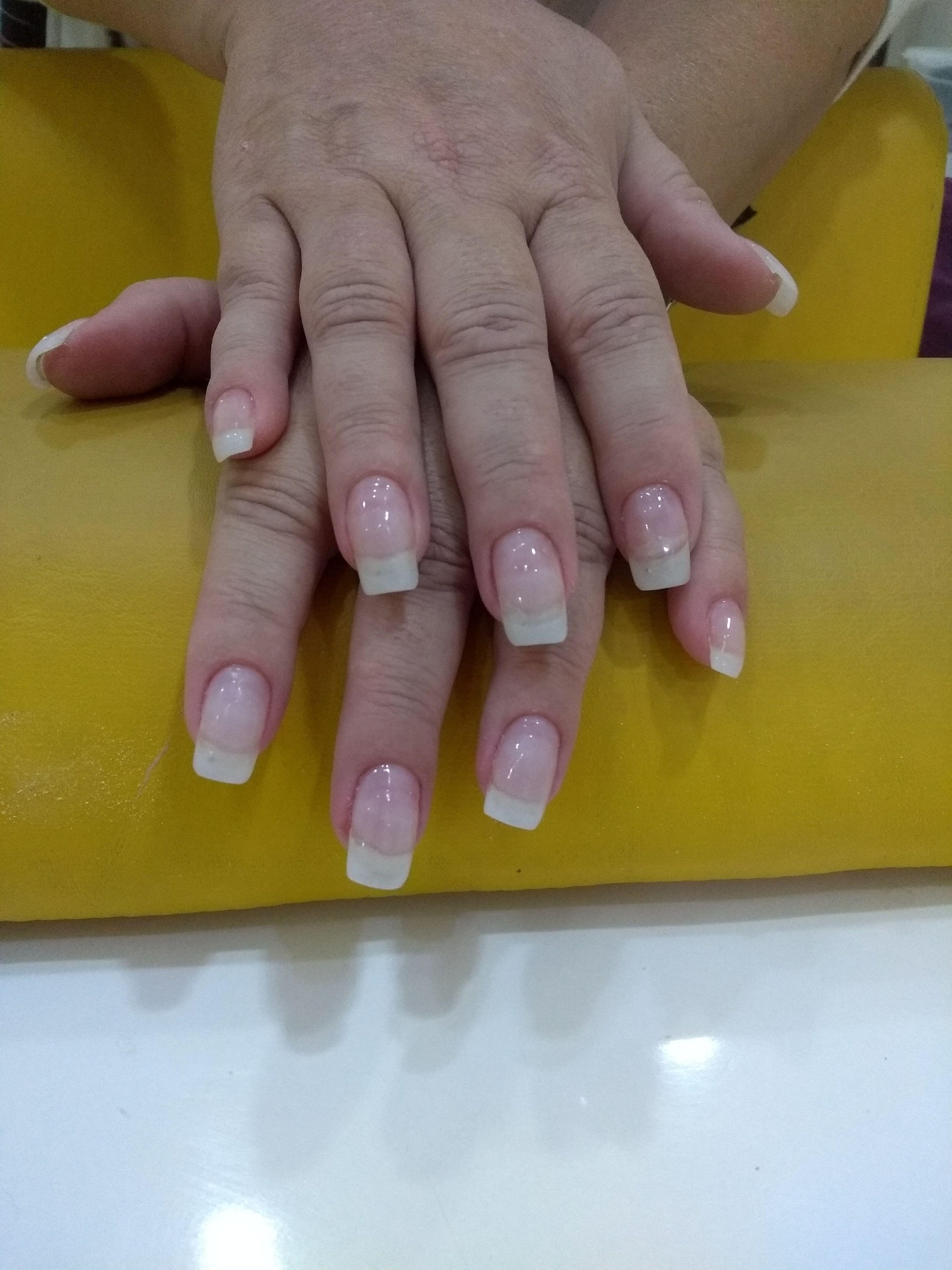 Manutenção de unha de gel unha manicure e pedicure