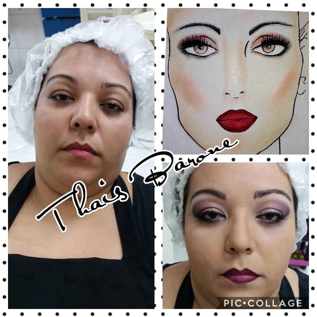 Projeto desenvolvido em face chart e reproduzido em modelo.  maquiagem maquiador(a) auxiliar cabeleireiro(a)