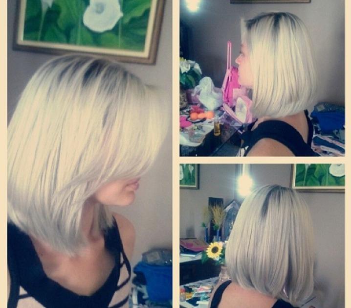 Platinadinho magnifico! cabelo cabeleireiro(a)