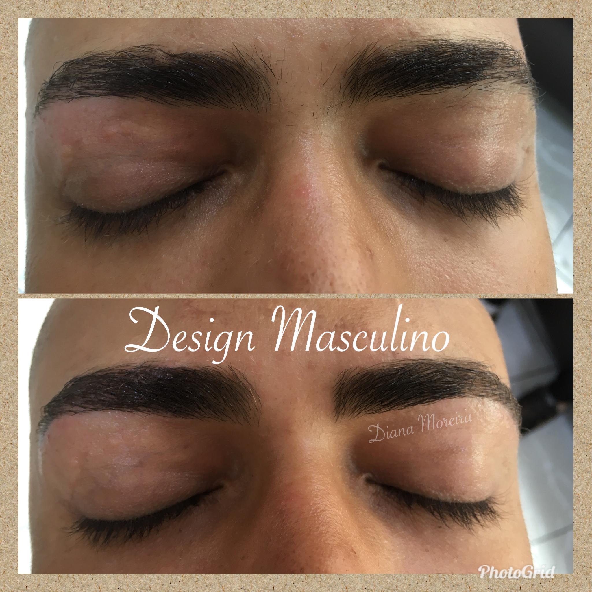 Design Sobrancelhas Masculino estética designer de sobrancelhas micropigmentador(a) cabeleireiro(a)