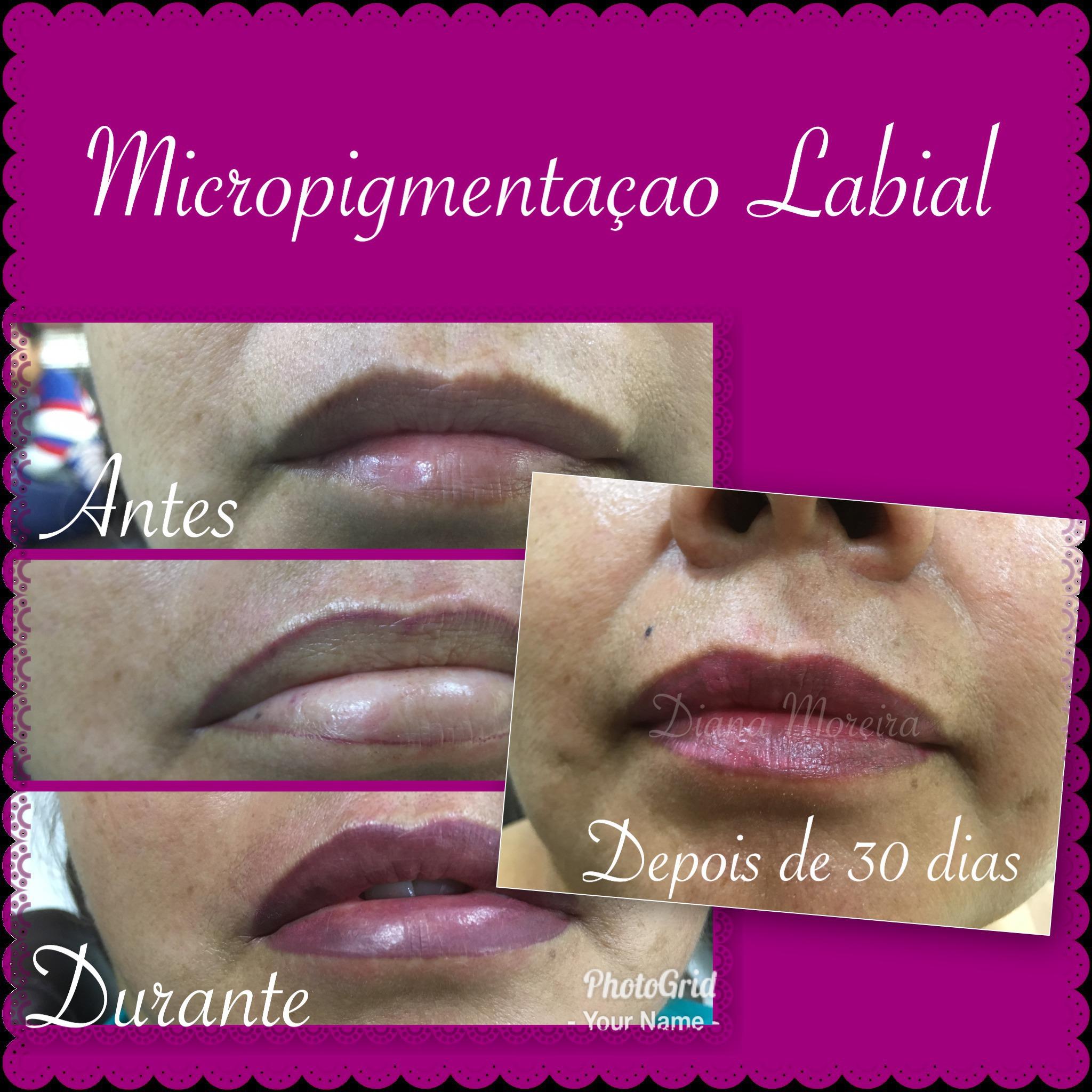 Micropigmentação Labial  estética designer de sobrancelhas micropigmentador(a) cabeleireiro(a)