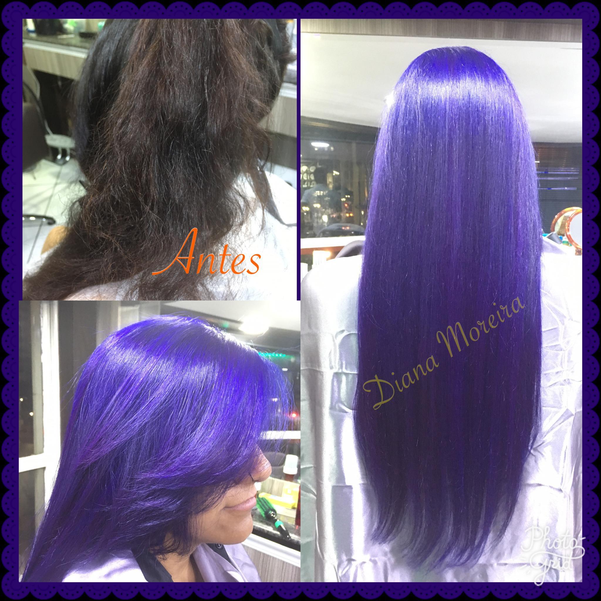 Cabelo transformação azul royal  cabelo designer de sobrancelhas micropigmentador(a) cabeleireiro(a)