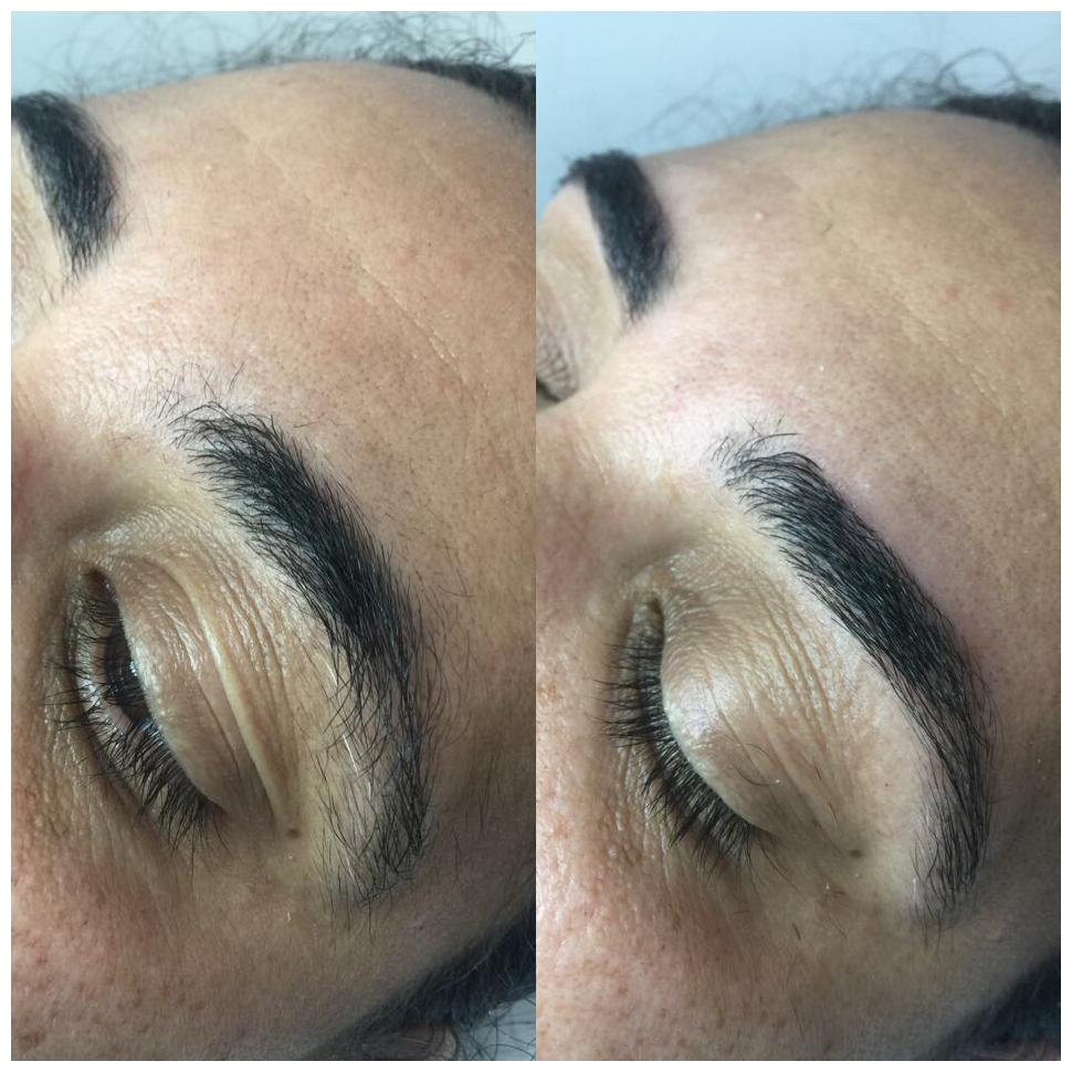 Antes e depois! #sobrancelha #naturais estética designer de sobrancelhas