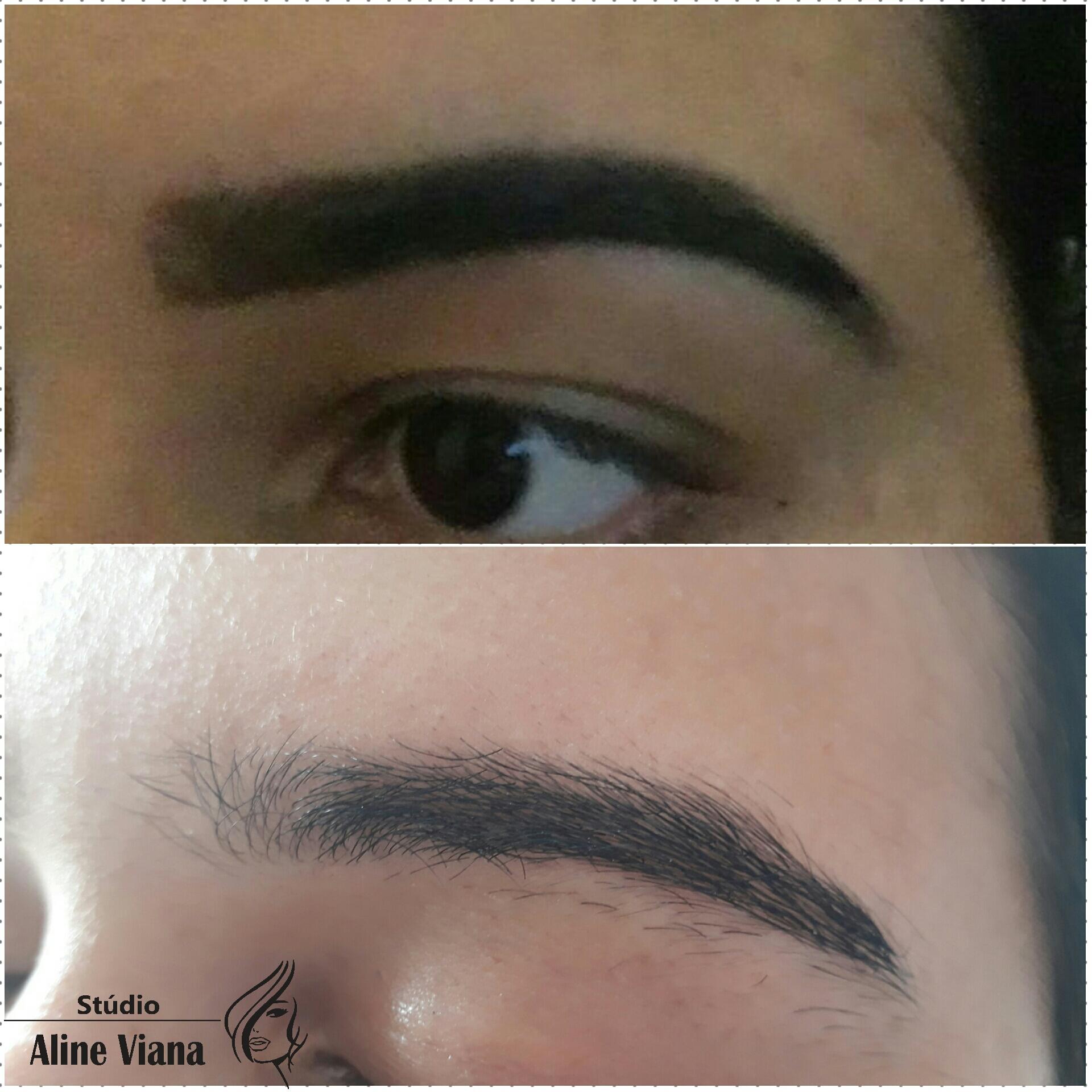 Um belo designer com henna, trabalhando com perfeição e focando nos mínimos detalhes. estética auxiliar cabeleireiro(a) designer de sobrancelhas