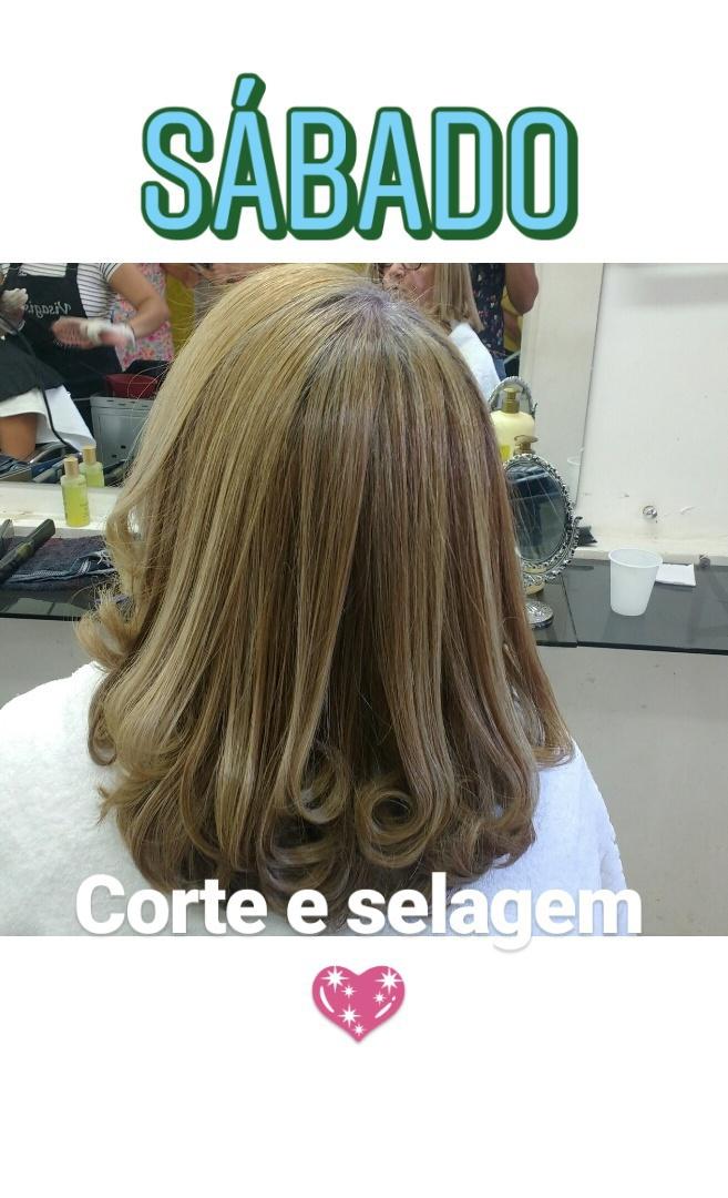 Finalização com carinha de salão também é super lindo!  #selagem #corte cabelo auxiliar cabeleireiro(a) designer de sobrancelhas maquiador(a)