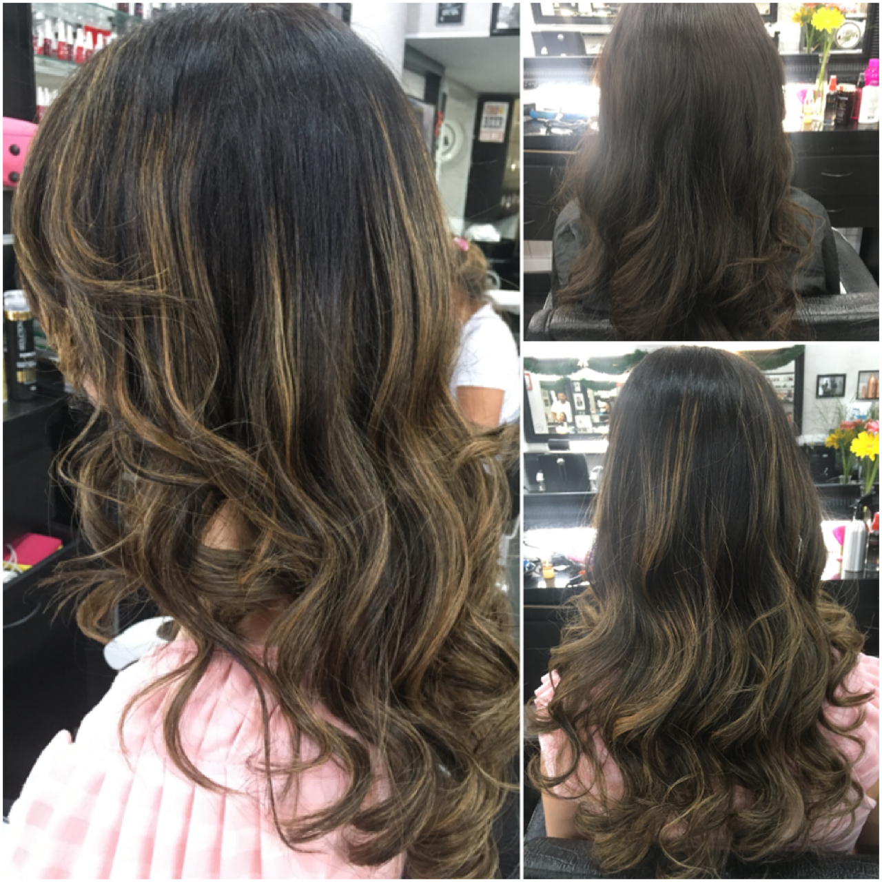 Morena iluminada cabelo cabeleireiro(a) maquiador(a)