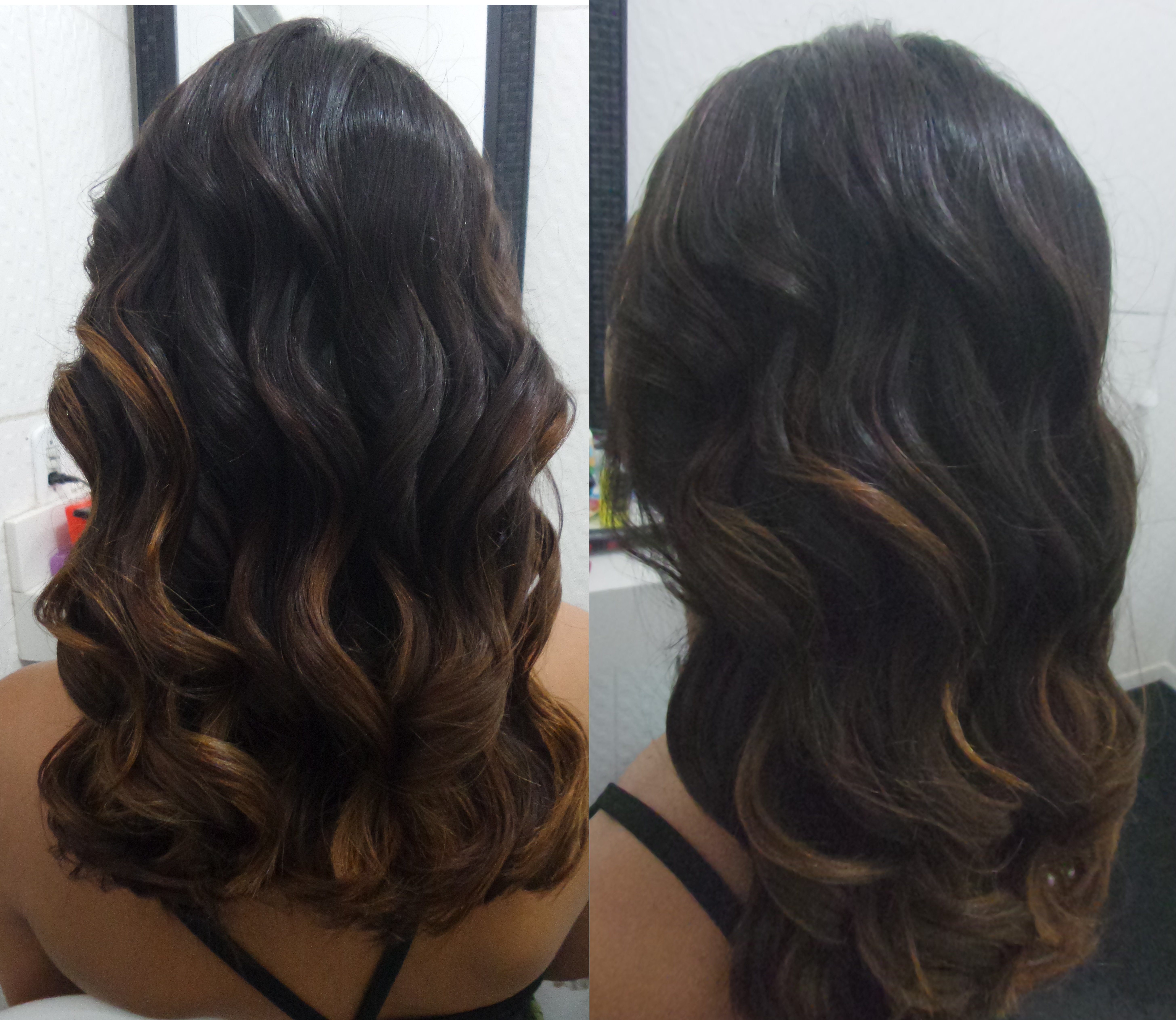 ombre hair no tom de 7.23 golden brown , lindíssimo   #morena iluminada  cabelo cabeleireiro(a)