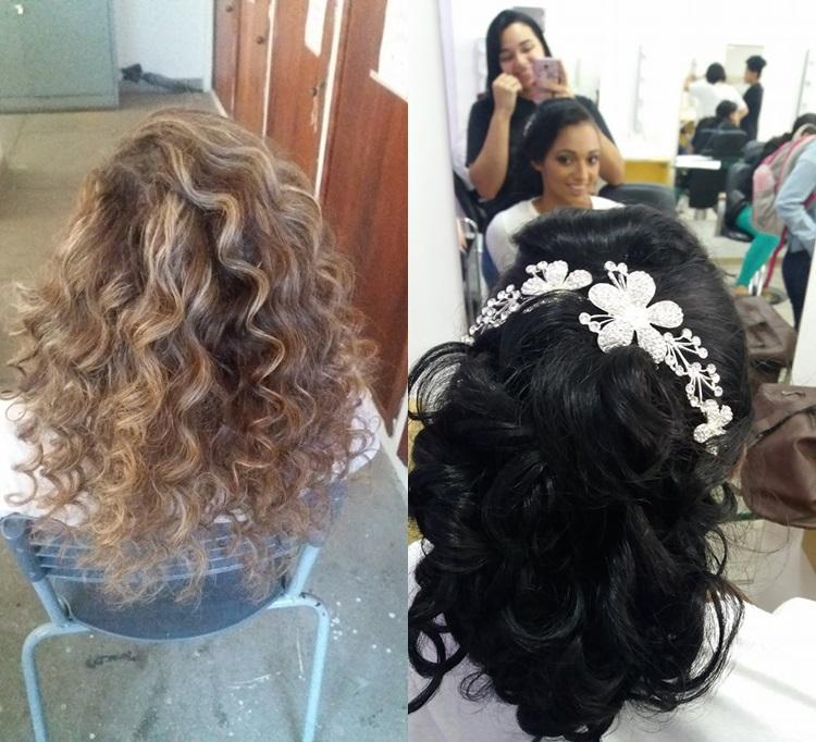Penteadoss cabelo cabeleireiro(a) maquiador(a) estudante (manicure) designer de sobrancelhas