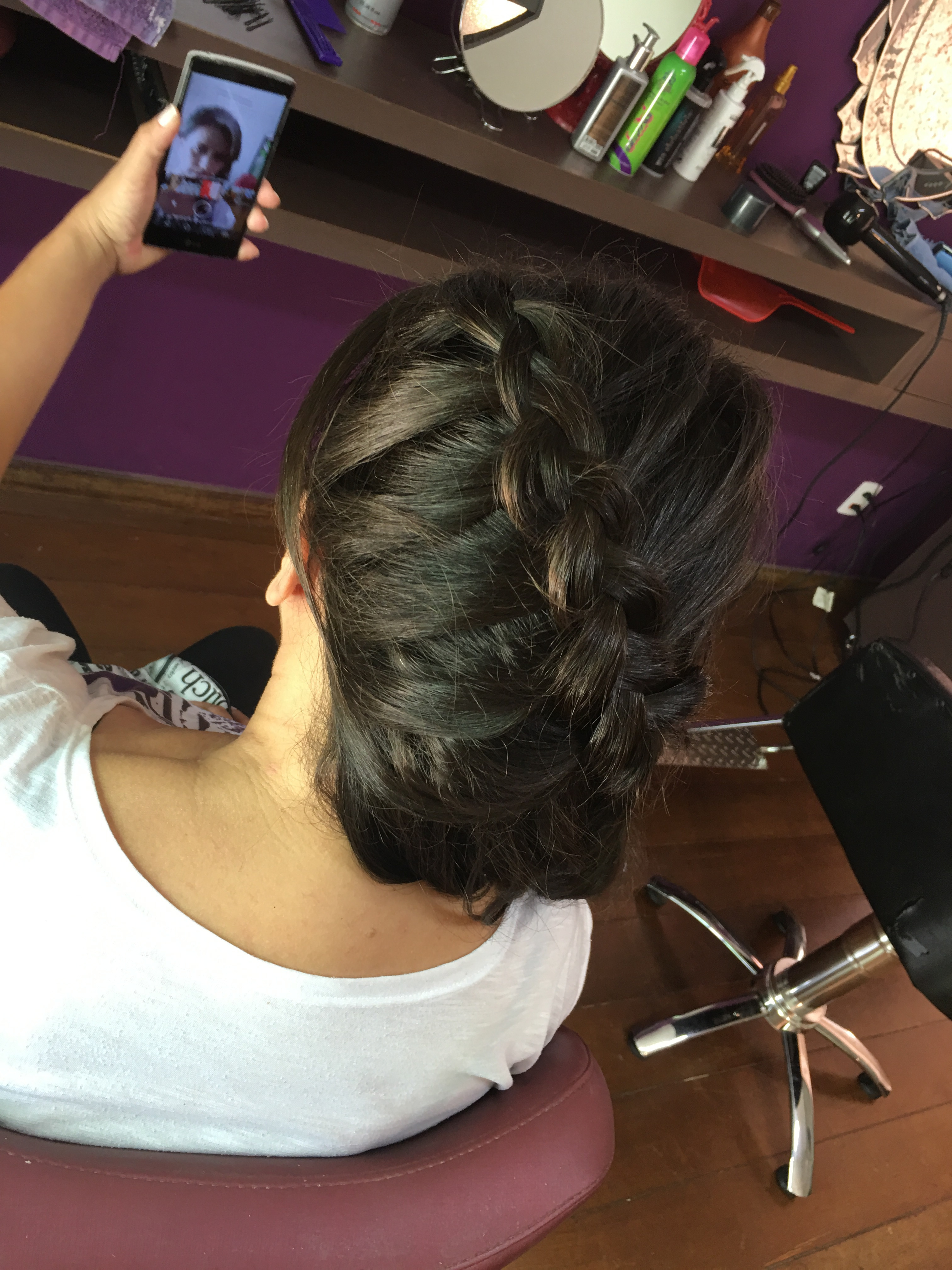 Penteado trança cabelo cabeleireiro(a)