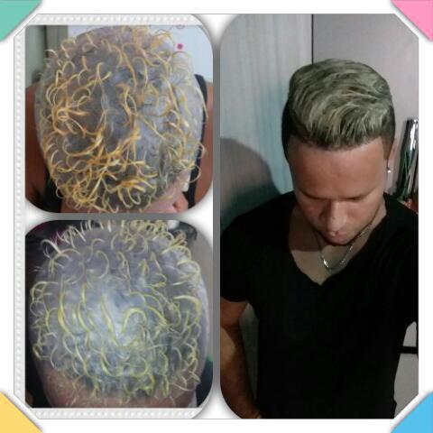 Reflexo na touca cabelo auxiliar cabeleireiro(a)