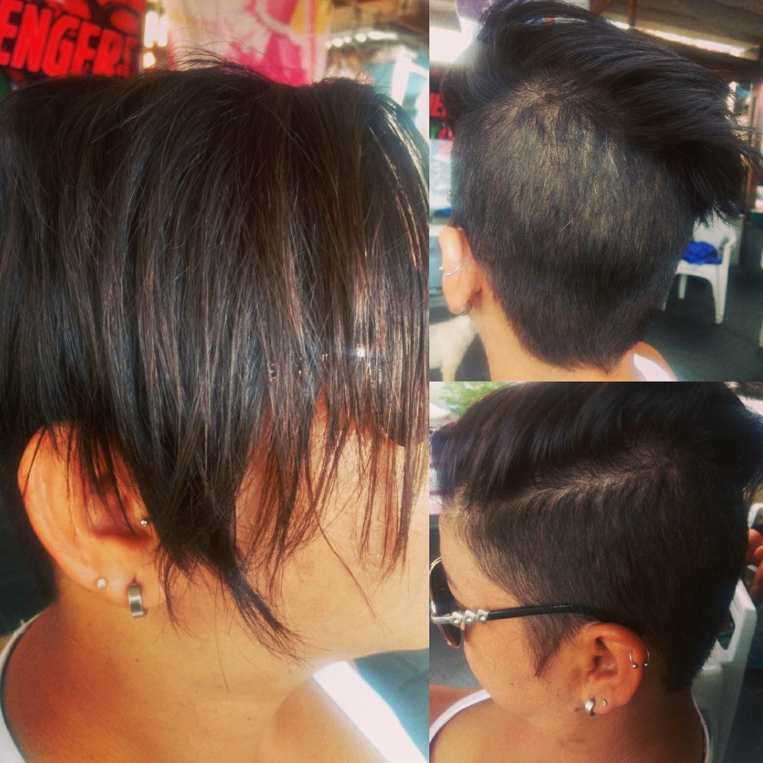 Feminino curto cabelo barbeiro(a)