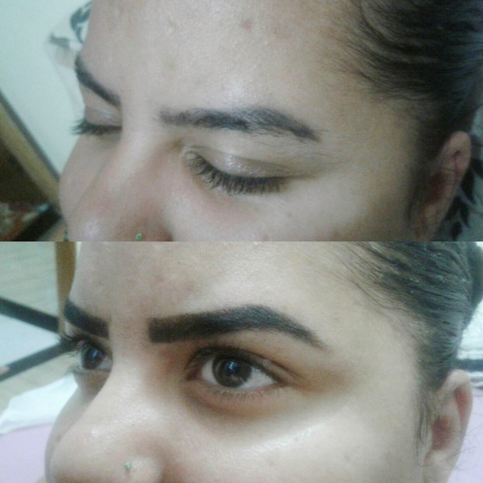 Designer de Sobrancelhas com aplicação de henna. outros maquiador(a) designer de sobrancelhas