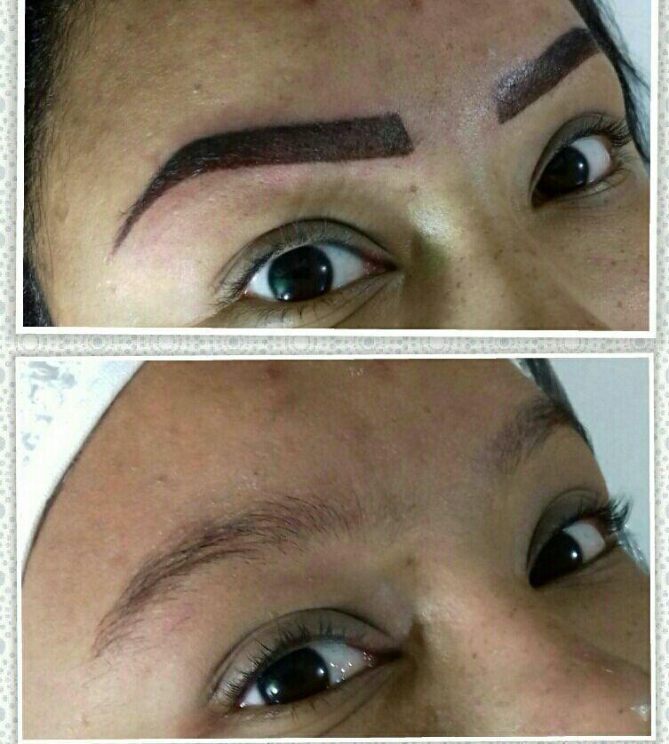 Micropigmentacao.  Após cicatrizada clareia até 50% do tom maquiagem estética designer de sobrancelhas dermopigmentador(a) depilador(a) micropigmentador(a) esteticista