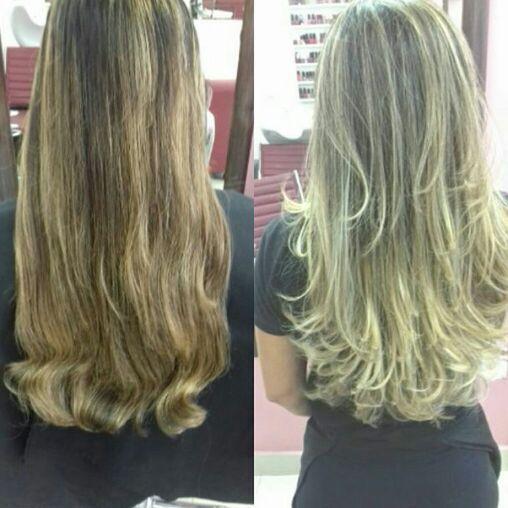 Correção da cor . cabelo cabeleireiro(a)