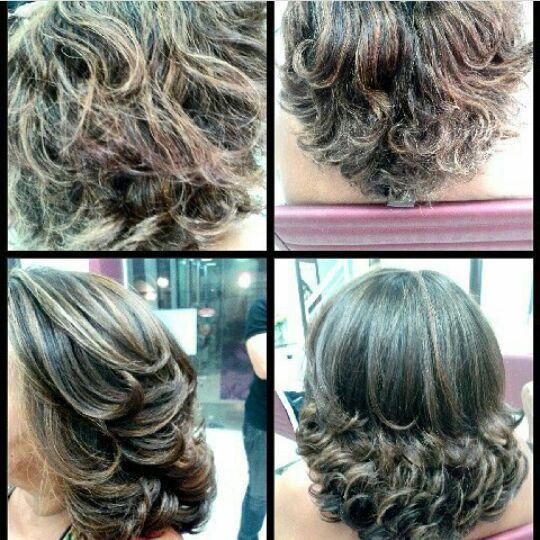 Correção da cor , corte e escova . cabelo cabeleireiro(a)