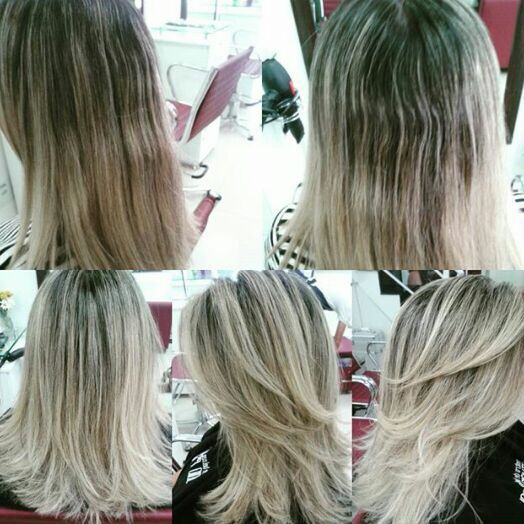 Mechas. cabelo cabeleireiro(a)