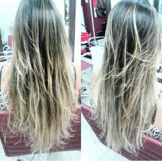 Mechas californianas. cabelo cabeleireiro(a)