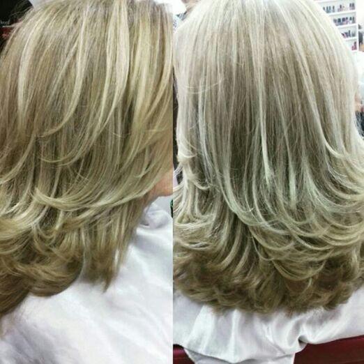 Coloração,  mechas e corte. cabelo cabeleireiro(a)