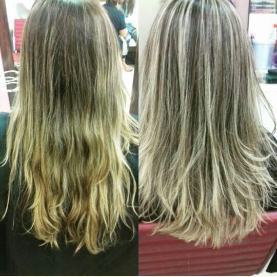 Retoque de mechas. cabelo cabeleireiro(a)