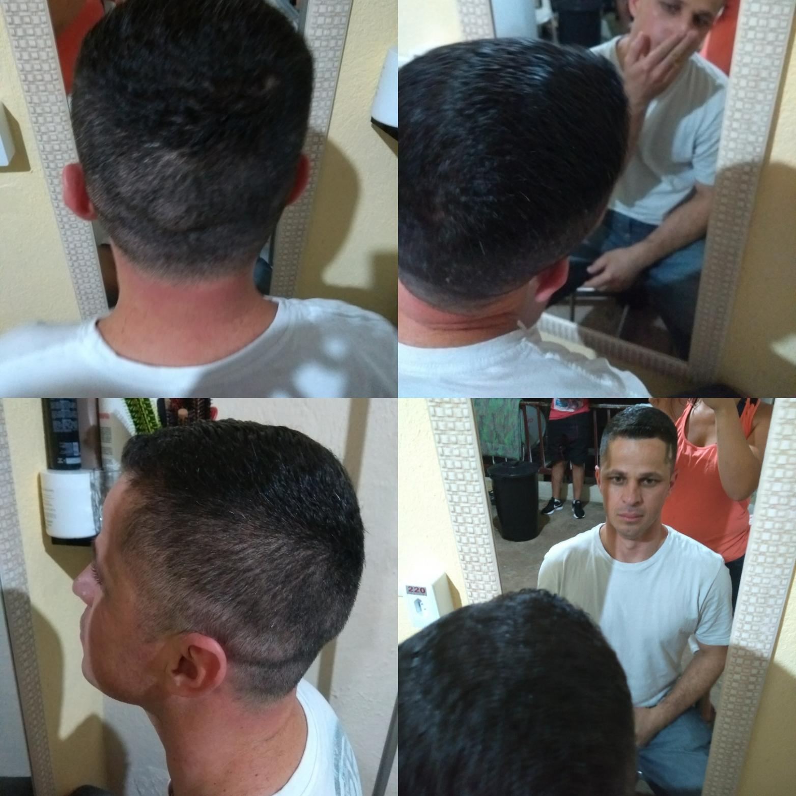 Corte masculino com disfarce  cabelo estudante (cabeleireiro) auxiliar administrativo manicure e pedicure recepcionista