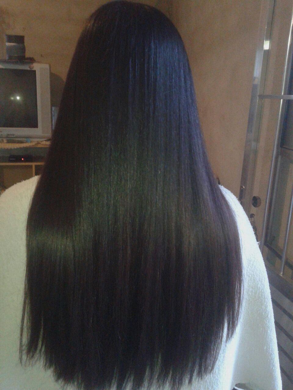Esse cabelo foi feito progressiva cabelo auxiliar cabeleireiro(a)