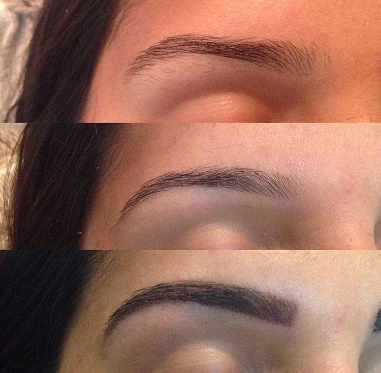 Antes e Depois! Design de Sobrancelha com henna!  estética designer de sobrancelhas micropigmentador(a)