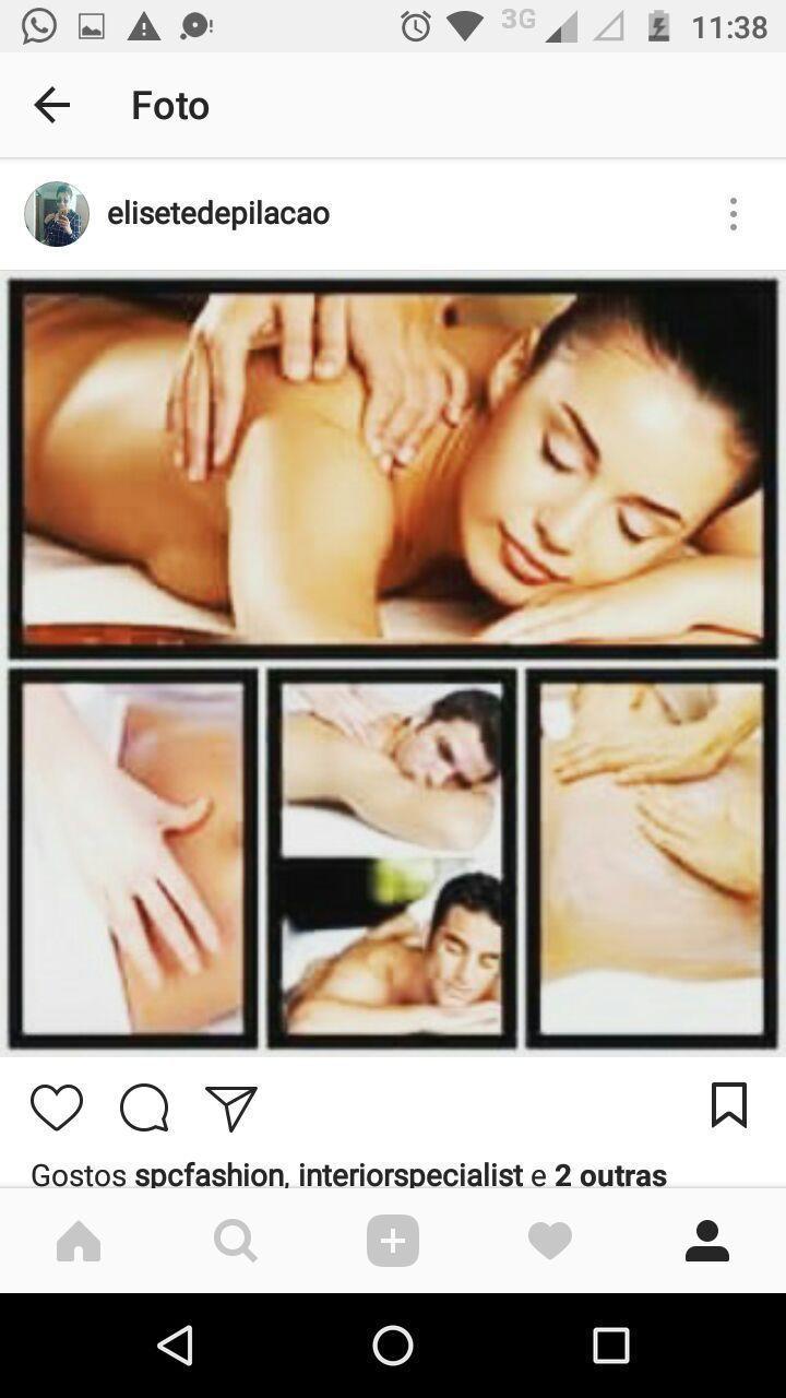 Massagem relaxante estética depilador(a) manicure e pedicure esteticista