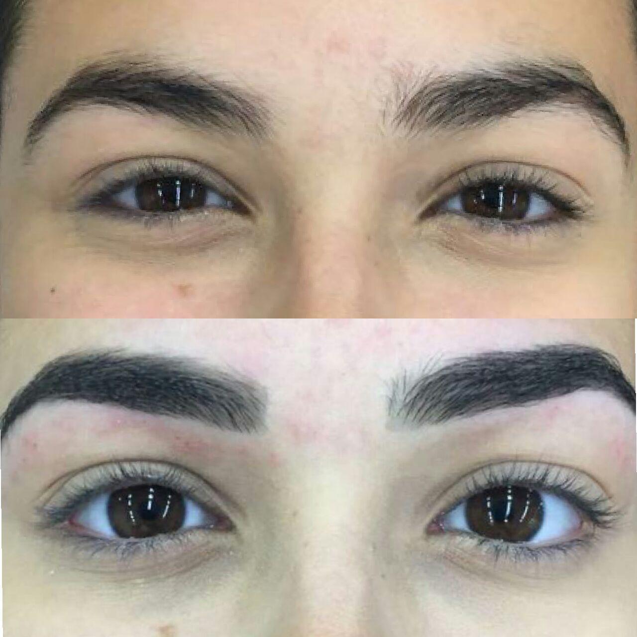 Designer de sobrancelhas e aplicação de pigmento  estética designer de sobrancelhas