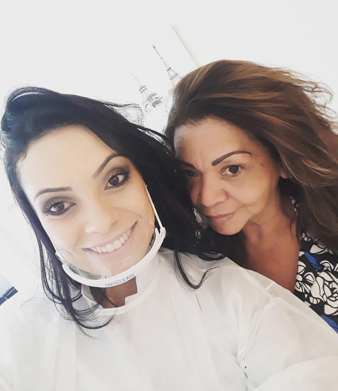Cliente satisfeita!!  estética micropigmentador(a) designer de sobrancelhas maquiador(a)